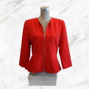 F21   Stunning Red Peplum Style Blazer